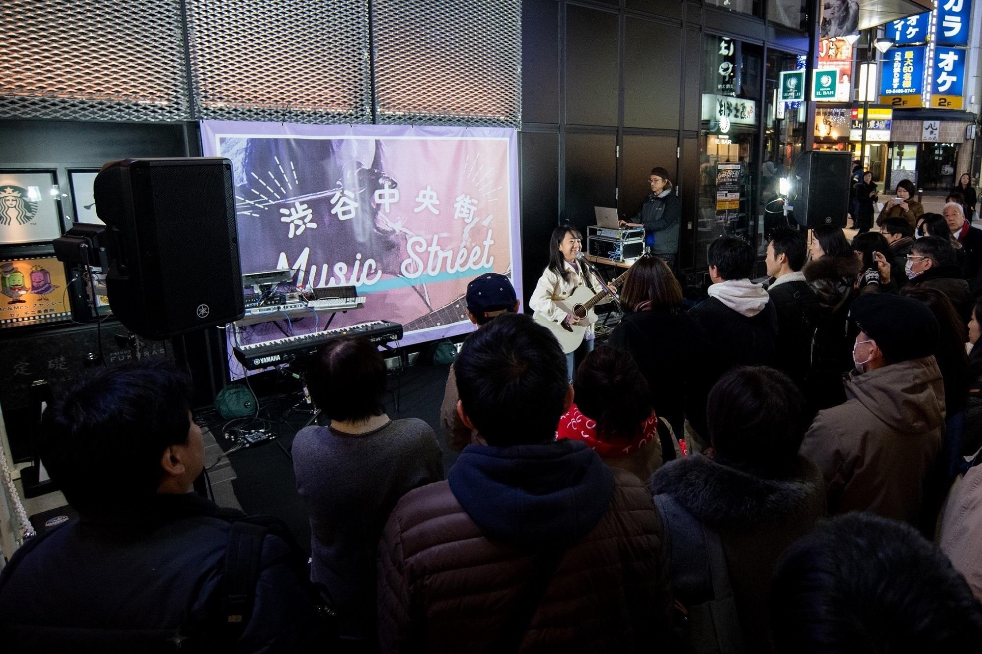 【ライブレポート】渋谷の街で新たな才能を応援!Eggsと渋谷中央街がコラボ、渋谷まちびらき2019公認ストリートライブ「渋谷中央街Music Street」開催!